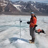 Recording reflector height above the ice surface.