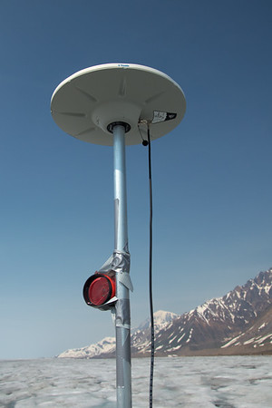 Reflector for the Theodolite on the GPS antenna pole. (brmd)