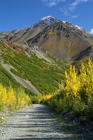 Red Rock Canyon Road/Trail in the Alaska Range.