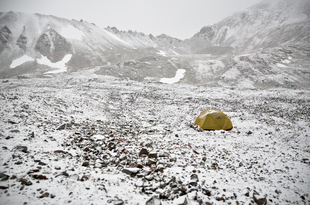 Brands I trust - MSR Hubba Hubba tent in the snow