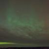 Big dipper and aurora behind the clouds
