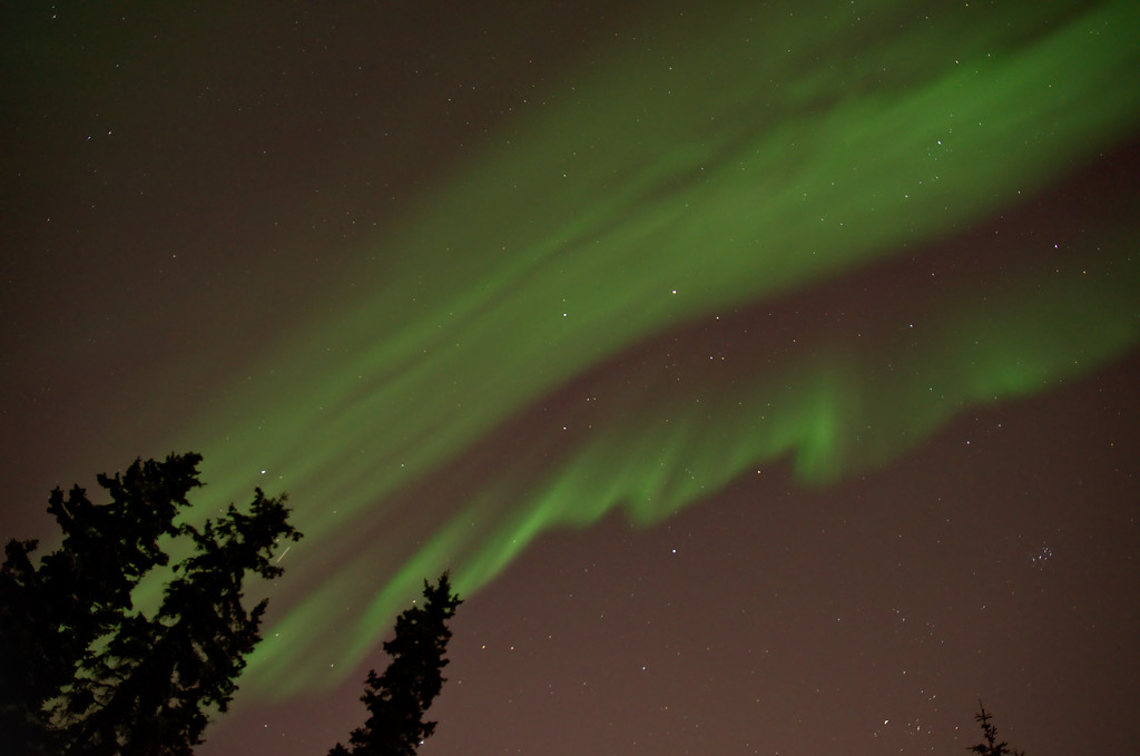 For about 10 minutes the northern lights appeared to be fading.