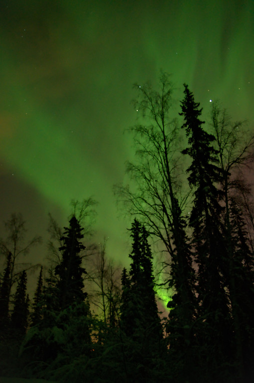 Then the aurora filled the sky