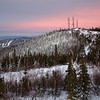Ester Dome after sunset
