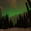 A walk under the northern lights