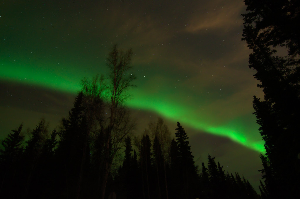 A walk under the northern lights
