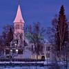 Parish in twilight