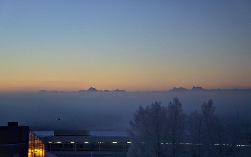 The Tanana Valley looks to be pretty fogged in.
