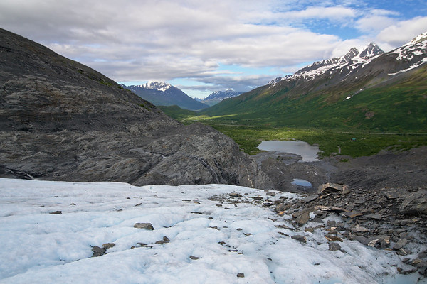 Looking down the Worthington Glacier in the Chugach Mountains. There's a great little state park and viewing area right off the Richardson Highway.