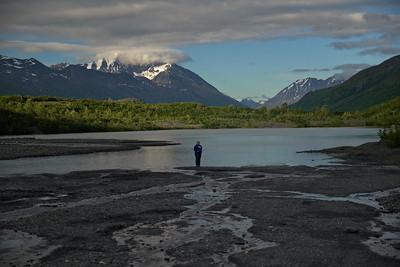 Kate at the Worthington Glacier
