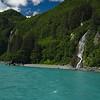 Beautiful summer scenery along the Prince William Sound coastline near Valdez, Alaska.
