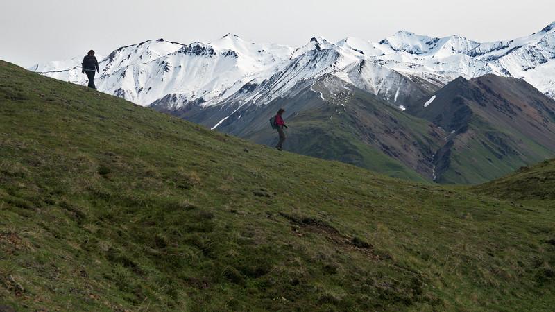 Descending the Thoro Ridge