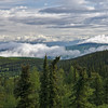 Moose Mountain Ski Area pokes through the fog