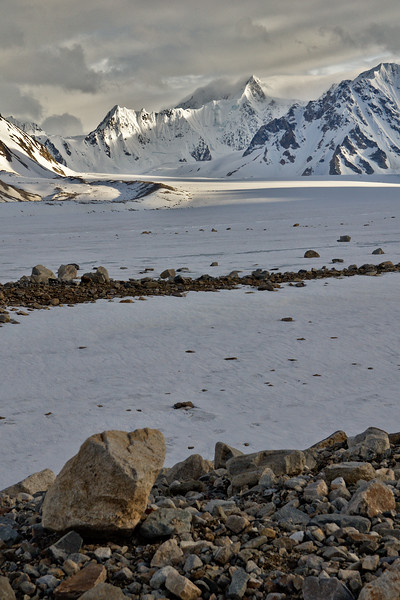 Mountains, glaciers, and moraines
