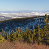 Looking over the city of Fairbanks from Ester Dome.