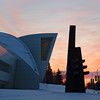 Sunrise next to the Museum of the North on the University of Alaska Fairbanks campus.