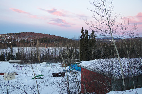 Nice soft colors in the sky, looking over the Reindeer Research Farm.