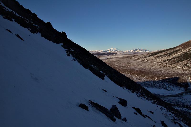 Steeper terrain