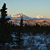 Denali off in the distance beyond Double Mountain.