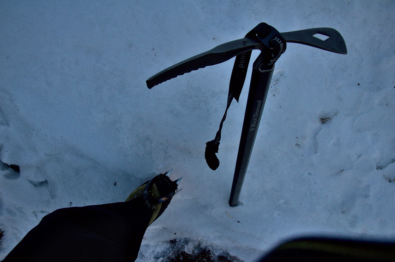 Got to put on my crampons for a little ways on the hike.