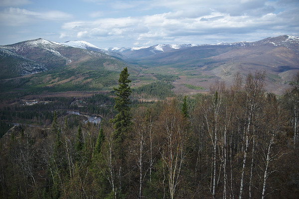 Looking over the North Fork of the Chena River Valley from Angel Rocks.