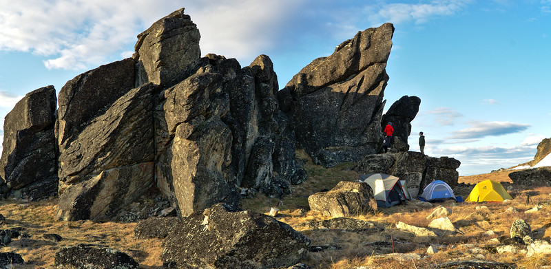 Our campsite at the tors