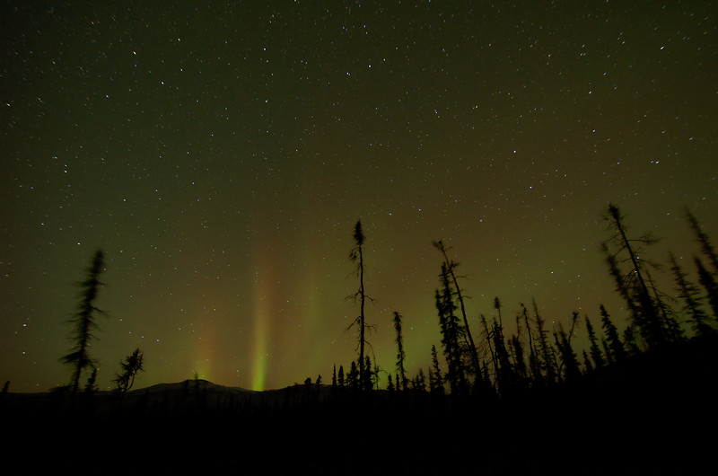 Aurora Rays Break the Horizon