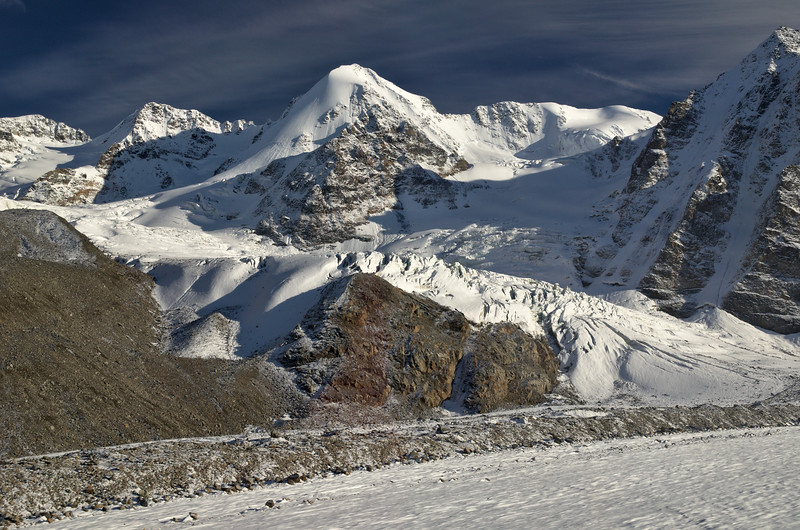 Mountains and Glaciers in the Alaska Range
