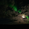 Aurora, Moon, Clouds