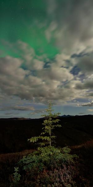 Diffuse Aurora over clouds