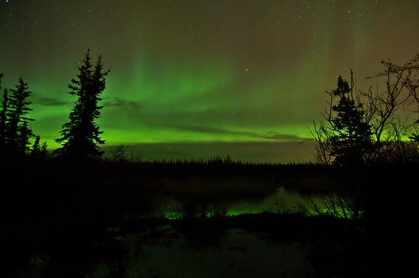 Northern lights over Smith Lake