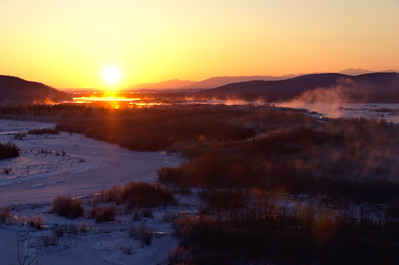 Sunrise over the Tanana