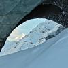 White Princess Through the Ice Arch