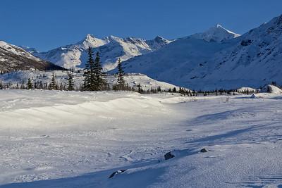 Over the Frozen Castner Creek