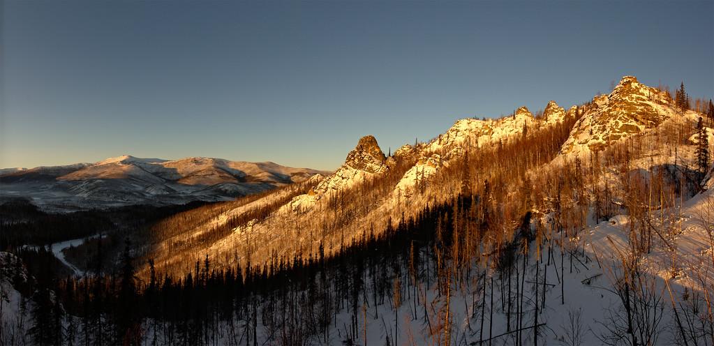 Angel Rocks Winter Afternoon Panorama