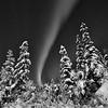 Aurora borealis in Black and White