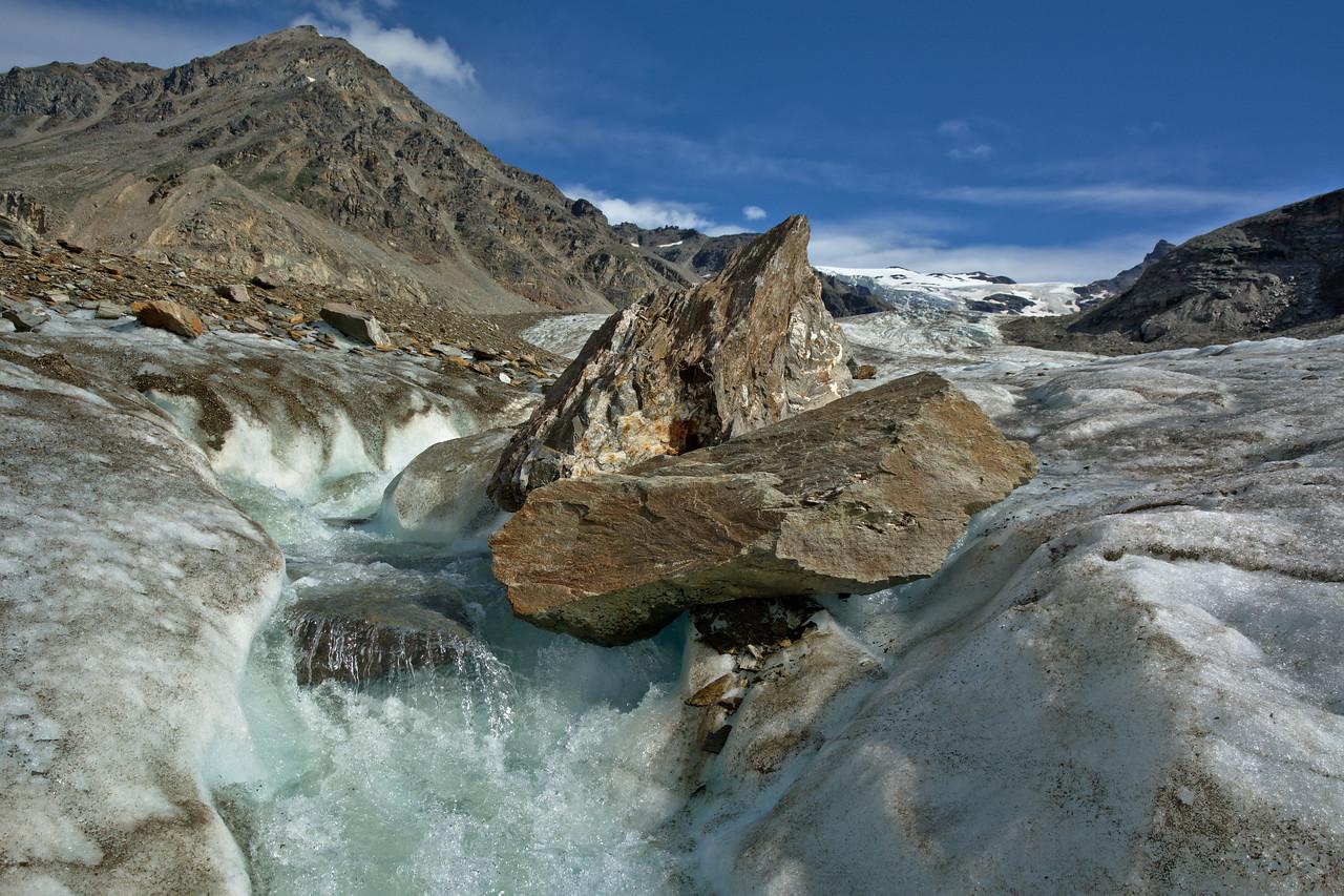 Surface Stream on the Castner Glacier near the Silvertip branch