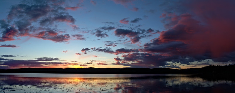 Sunset after midnight at Birch Lake