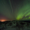 Northern Lights and Fairbanks Lights