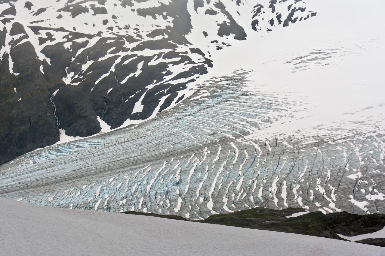 Transverse crevasses on Exit Glacier
