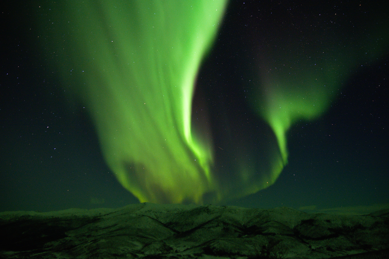 Aurora borealis from the Angel Rocks to Chena Hot Springs Trail