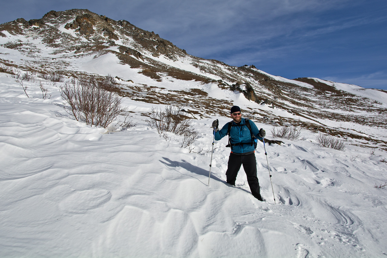 Snowshoeing on the Savage Alpine Trail in Denali National Park