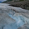 Looking Down a Glacier Stream