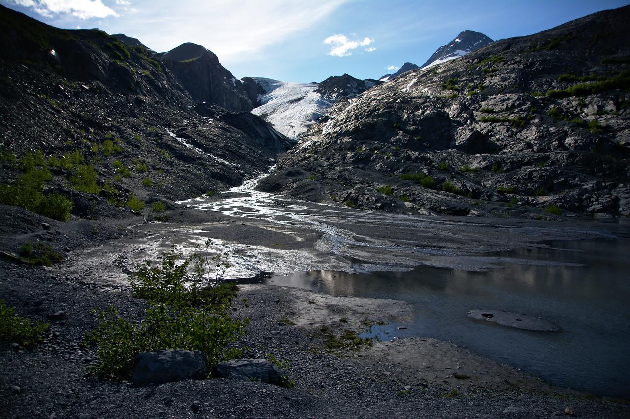 The Worthington Glacier from the Worthington Glacier State Recreation Site.