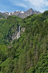Chugach Mountains and Waterfall