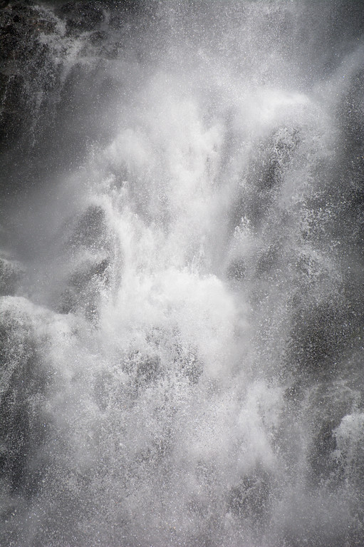 Spray from Bridal Veil Falls in Keystone Canyon near Valdez, Alaska