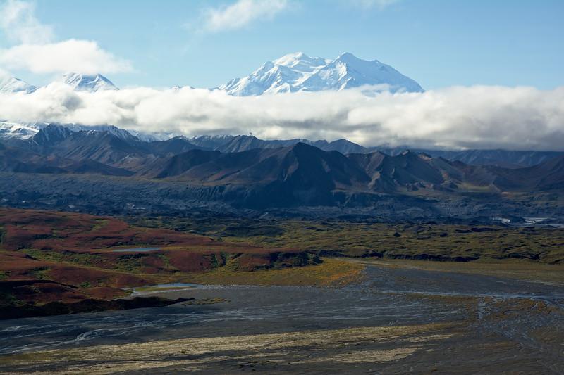 Denali viewed from the Thorofare Ridge in the fall