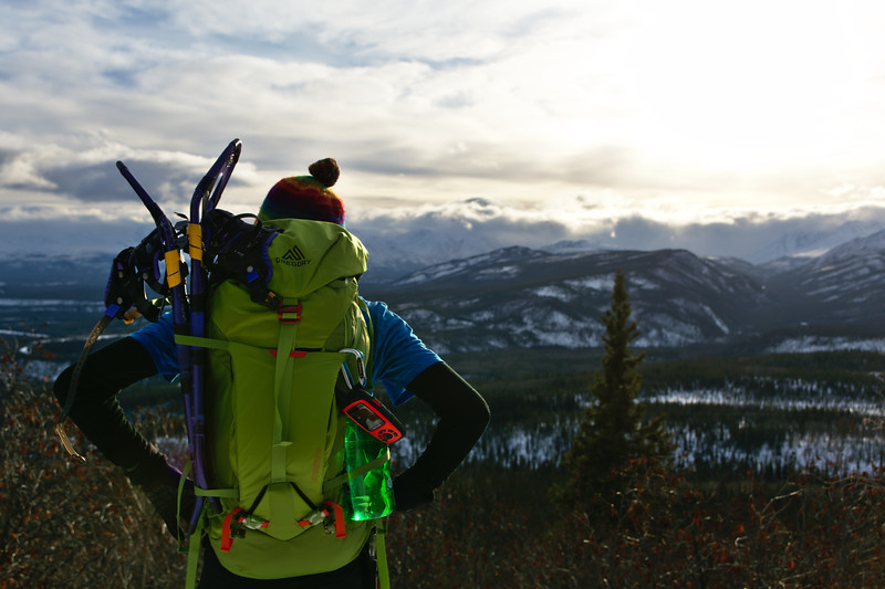 Brands I trust - Gregory Alpinisto Pack carrying snowshoes in Denali National Park