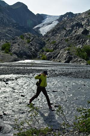 At the Worthington Glacier