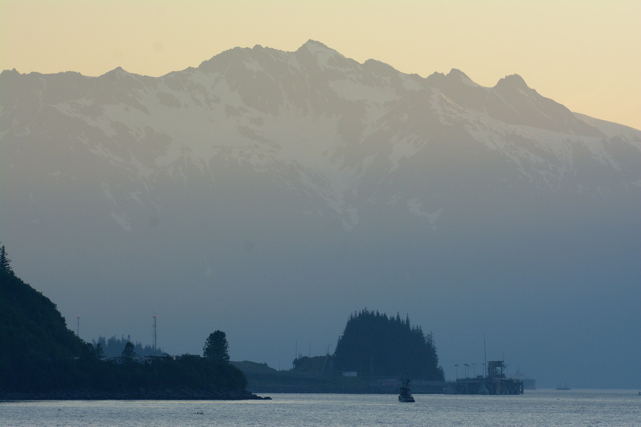 Gorgeous view of the Chugach Mountains from the hatchery